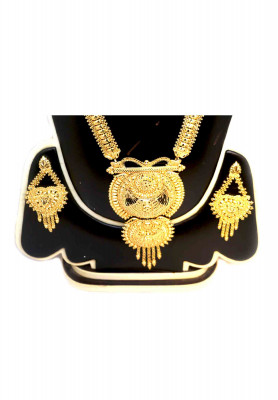 Gold Plated Sita Haar with Earrings