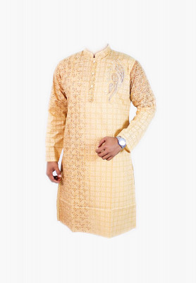 Semi long panjabi for men